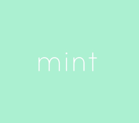 Something about Mint Colour
