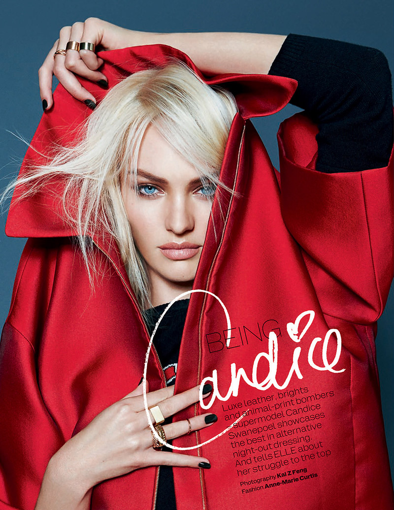 Elle UK December 2013 – Candice Swanepoel