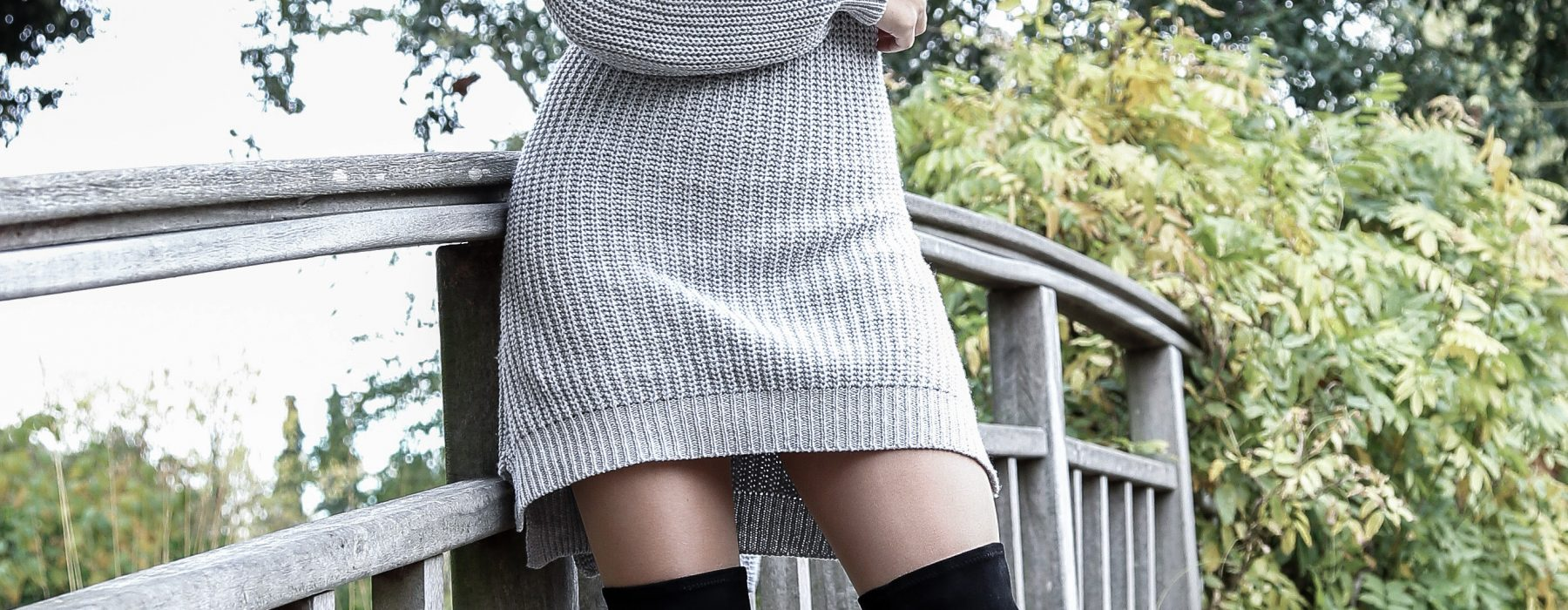 Sweater Dress and High Boots